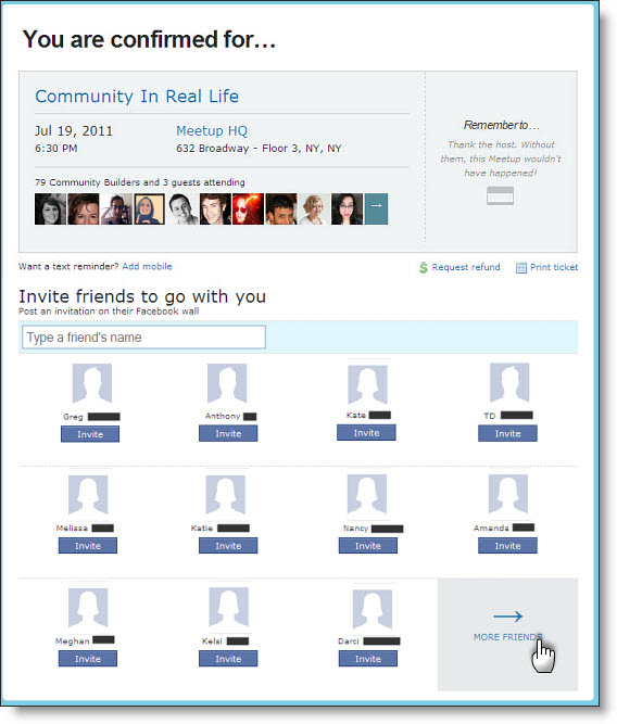 New feature: Invite your friends to Meetups - The Official