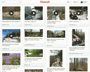 Pinterest board that indirectly promotes Nashville Hiking Meetup
